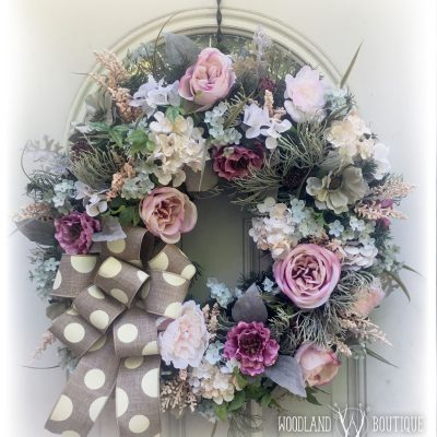 Wreath Recipe: Muted Florals on an Evergreen Base