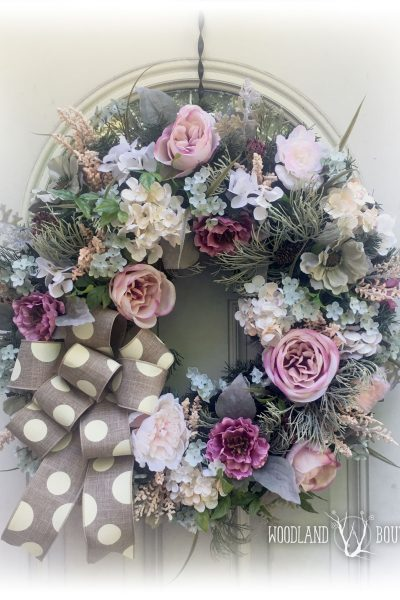 Muted Tones Floral Wreath