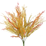 "Orange/Brown Grassy Leaf Bush - 20"""