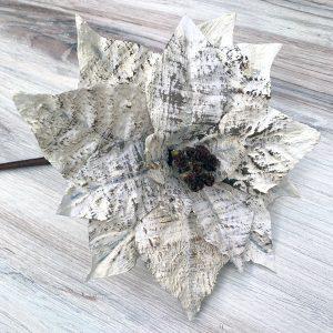 "Faux Birch Poinsettia Stem - 26"""