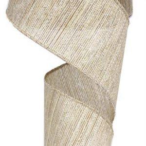 Champagne Woven Stripes Ribbon