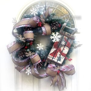 Rustic Sled Wreath