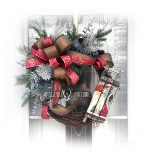 Sledding with Santa Wreath