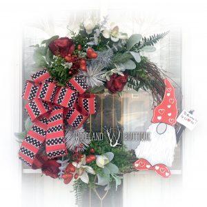 Valentines Gnome Wreath