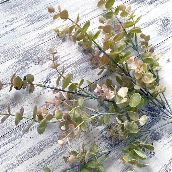 "Plastic Eucalyptus bush (Pink/Grn) - 19"""