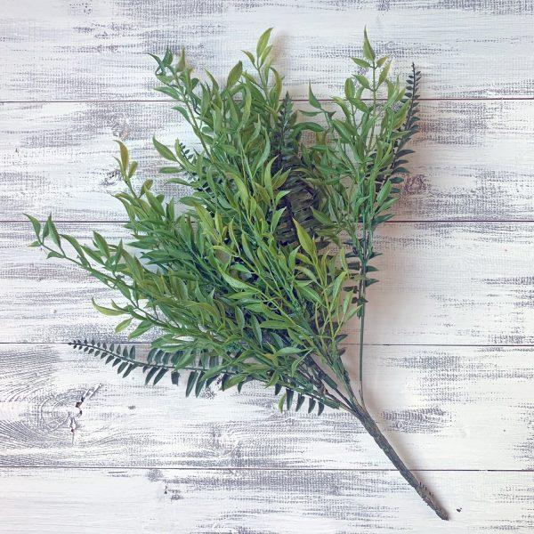 """Plastic Fern Grass Bush x7 - 20"""""""