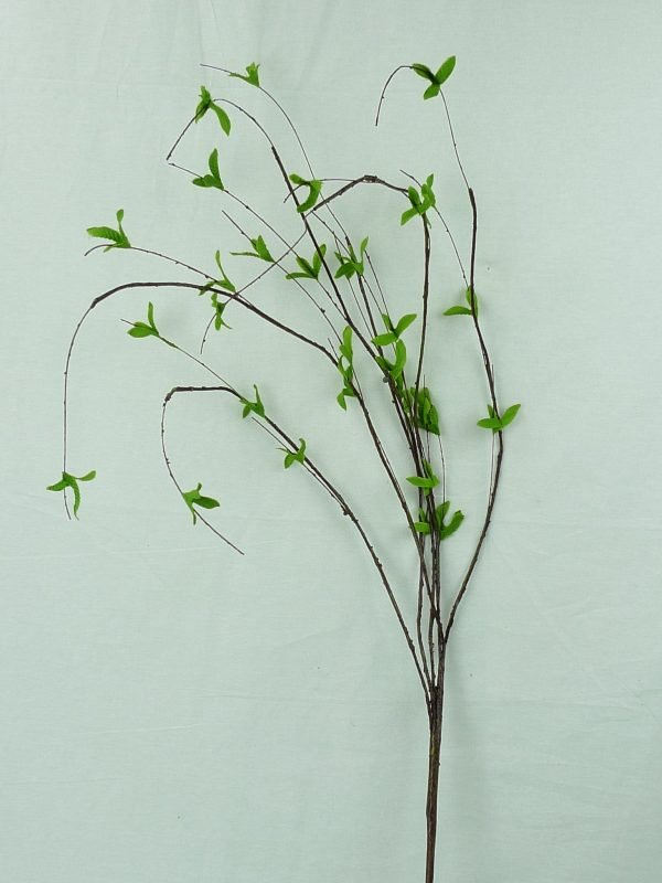 Brown Wired Twigs & Leaves Spray - 34""