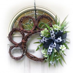 Puppy Paw Wreath