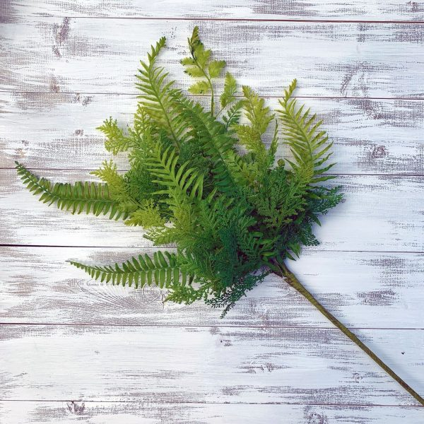 Plastic Fern Mix Bush
