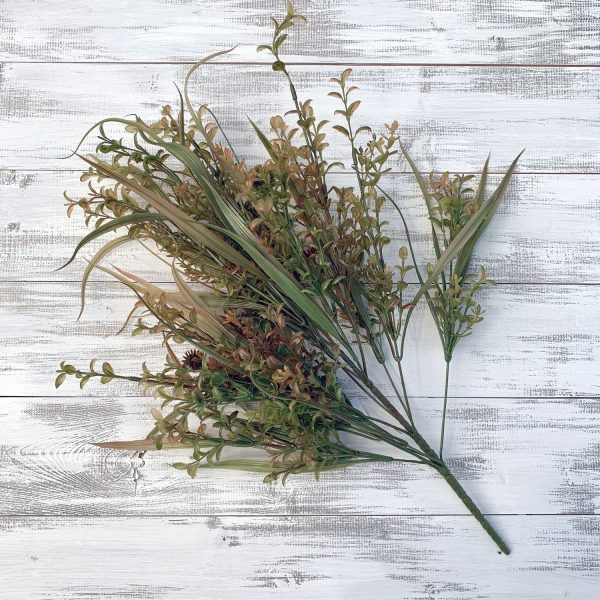 "Plastic Grass Bush x 17 - 22"""