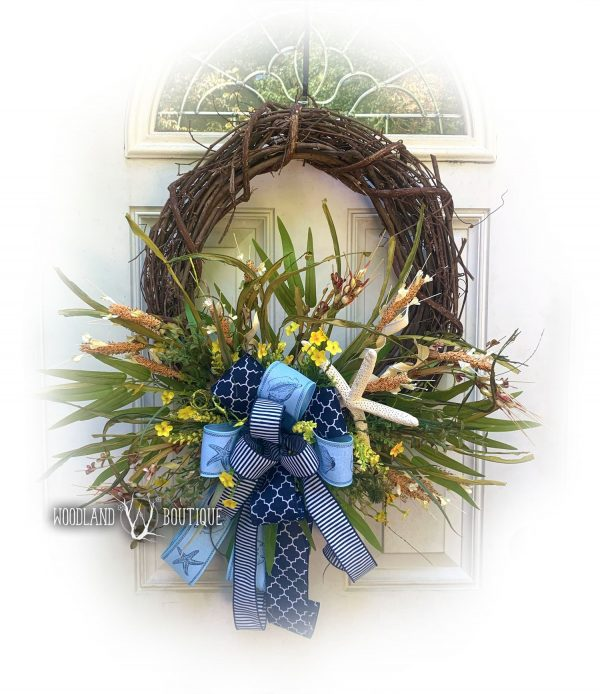 Beach Dune Grass Wreath