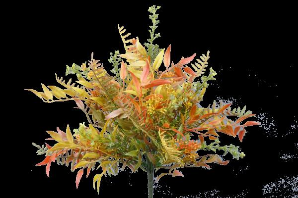 "Fall Plastic Mix Greenery bush x9 - 15"""