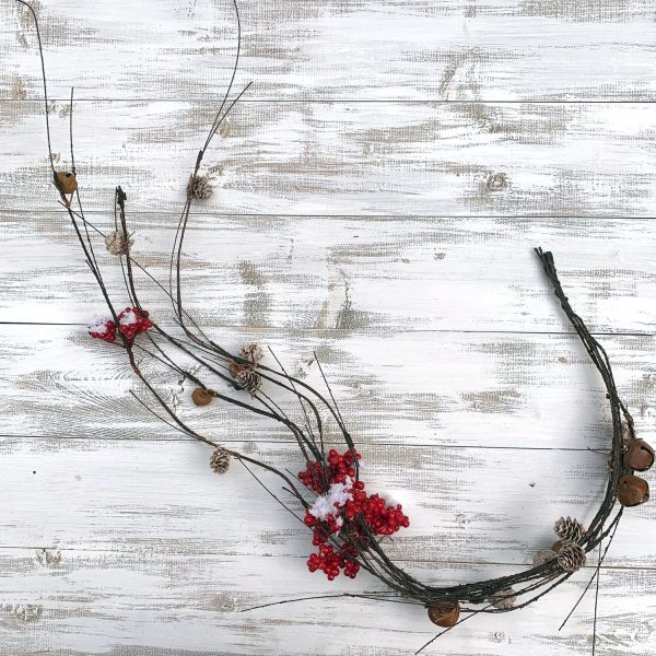 """Berry & Bell Twig Garland - 48"""""""