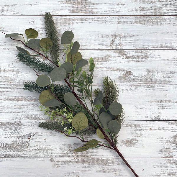 """Parkwood Pine & Leaf Spray - 32"""""""