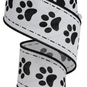 "Paw Print Ribbon - 2.5"" x 10 yards"