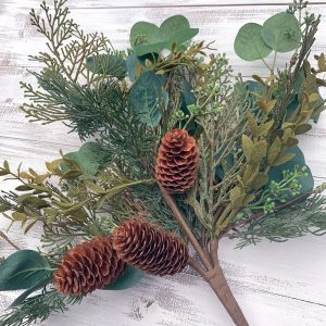 Mixed Cedar & Eucalyptus Bush - 20""