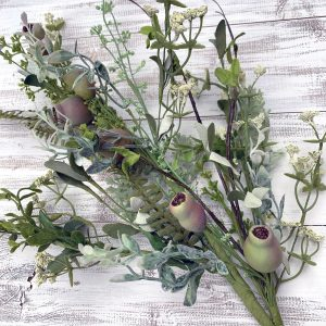 Dusty Miller Pod Greenery Spray - 28""