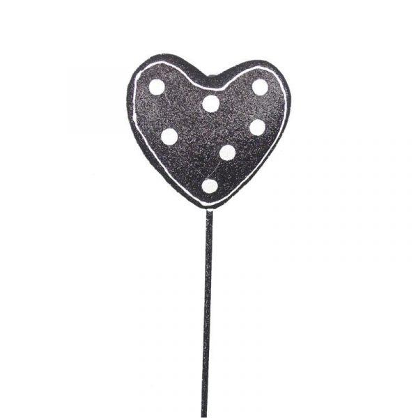 Black & White Polka Dot Heart