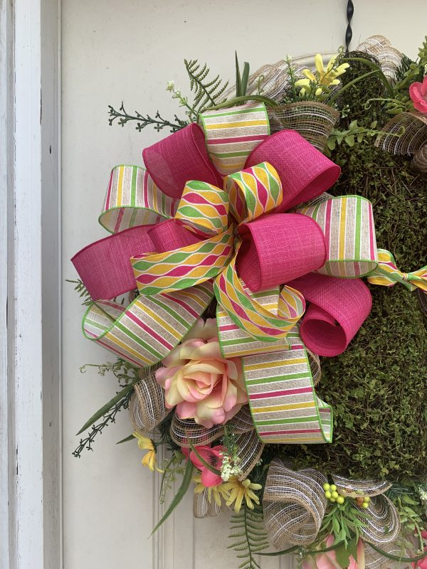 Fuchsia, Yellow & Lime Bow