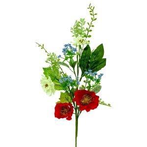 """Poppy Mixed Flower Spray - 26"""""""
