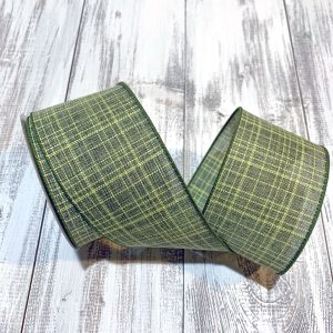 "Moss Green Textured Ribbon - 2.5"" x 10 yards"