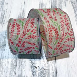 "Pink Hyacinth Linen Ribbon - 2.5"" x 10 yards"