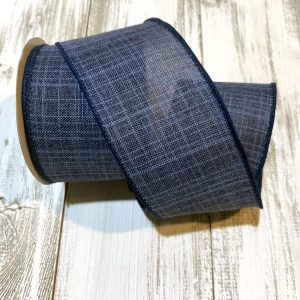 "Navy Blue Textured Ribbon - 2.5"" x 10 yards"