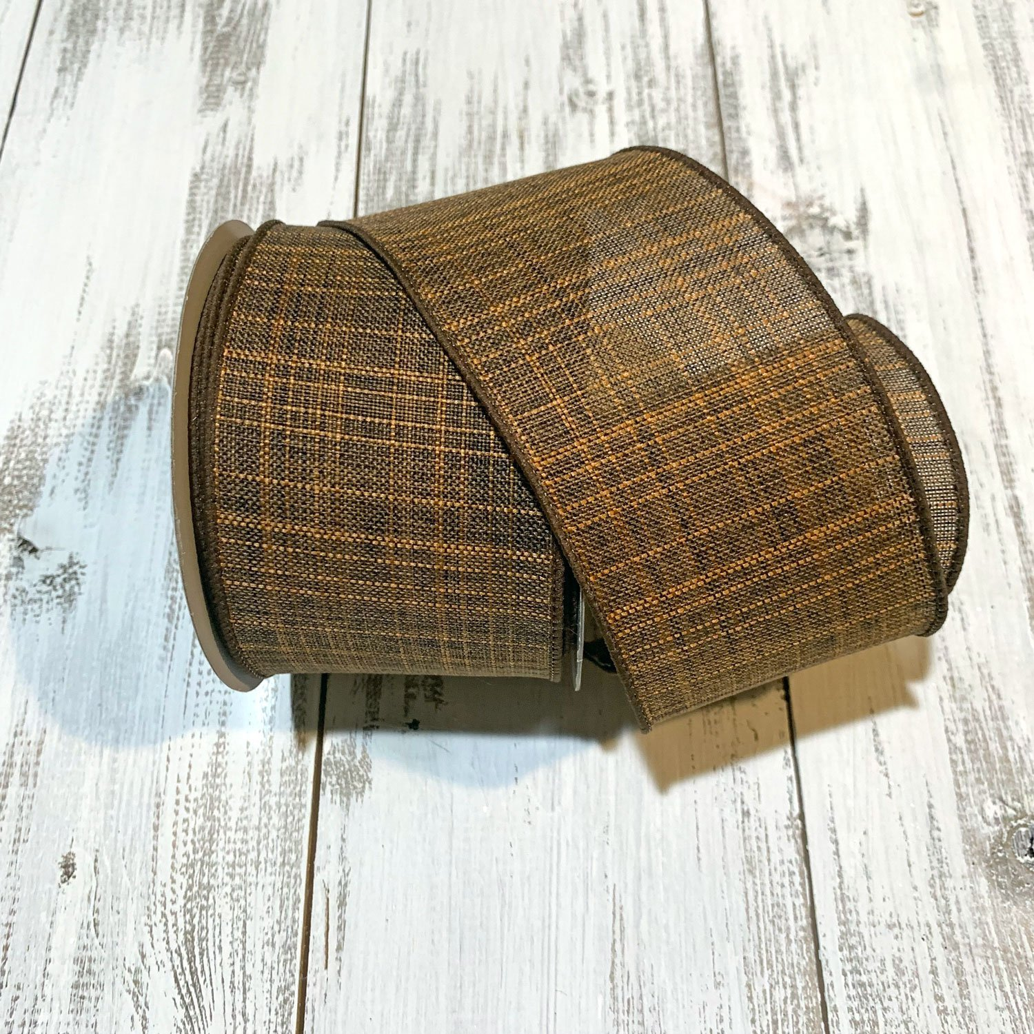 Chocolate Textured Ribbon - 2.5