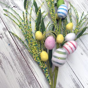 Striped Easter Egg Spray