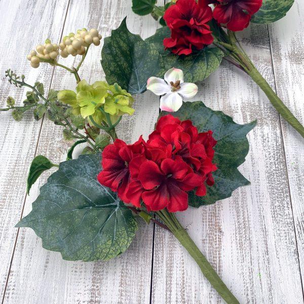 "Geranium Mixed Flower Pick Set - 16"""