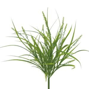 Plastic Rice Grass bush x 7