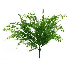 Plastic Mixed Fern Bush x 7 - 20""