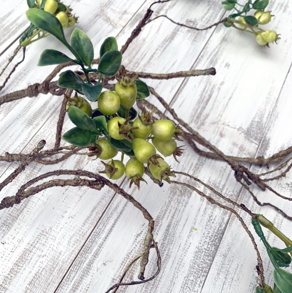 Green Berry Branch Spray - 42""