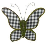 "Buffalo Plaid Moss Butterfly - 21"" (plus bonus)"