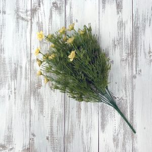 Butter Yellow Filler Flower Bush x 9 - 18""