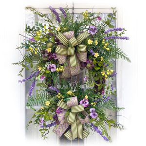 Pansy & Plum Wildflower Wreath