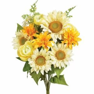 Crm/Gold Sunflower Dahlia Ranunculush Bush