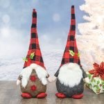 Red/Black Buffalo Plaid Gnome  (Choose Outfit)