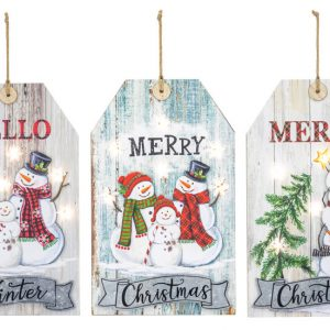 Christmas Tag Lighted Sign (Choose Design)