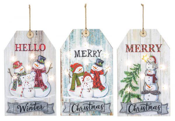 Christmas Tag Lighted Sign (Choose Design)