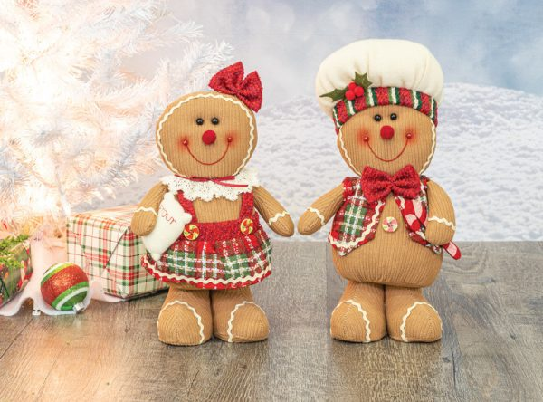 Plush Gingerbread Bakers (Choose Outfit)