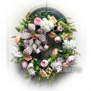Cottage Garden Grapevine Wreath