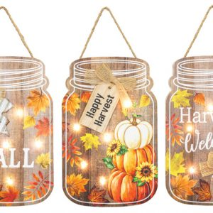 Fall Harvest Lighted Sign (Choose Design)