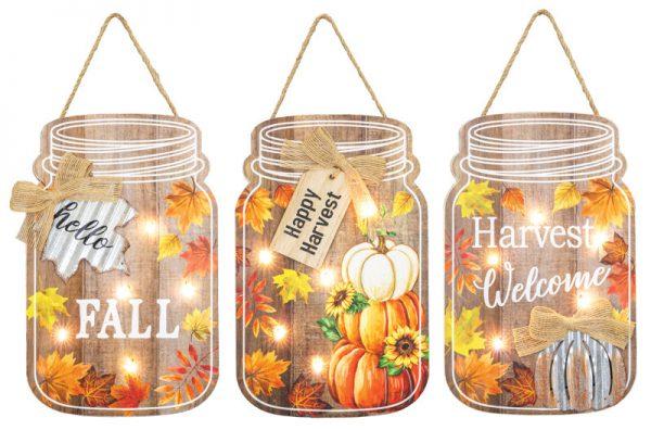 Fall Harvest Lighted Sign (Choose Design)