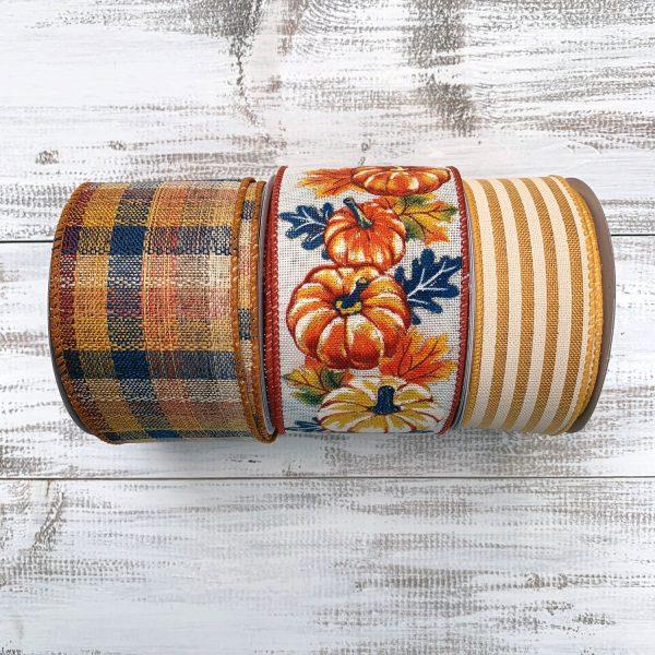 Pumpkin Sunflower Ribbon Combo