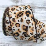 Leopard Print Ribbon – 2.5″ x 10 yards