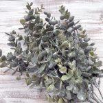 "Frosted Eucalyptus Bush x 7 - 18"""