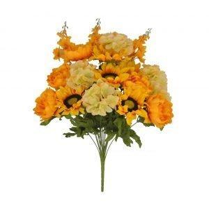 Peony, Hydrangea, Sunflower Bush