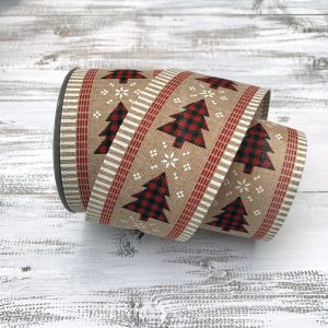 Red/Black Buffalo Plaid Tree Ribbon