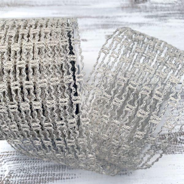 Ivory Expandable Netting Ribbon
